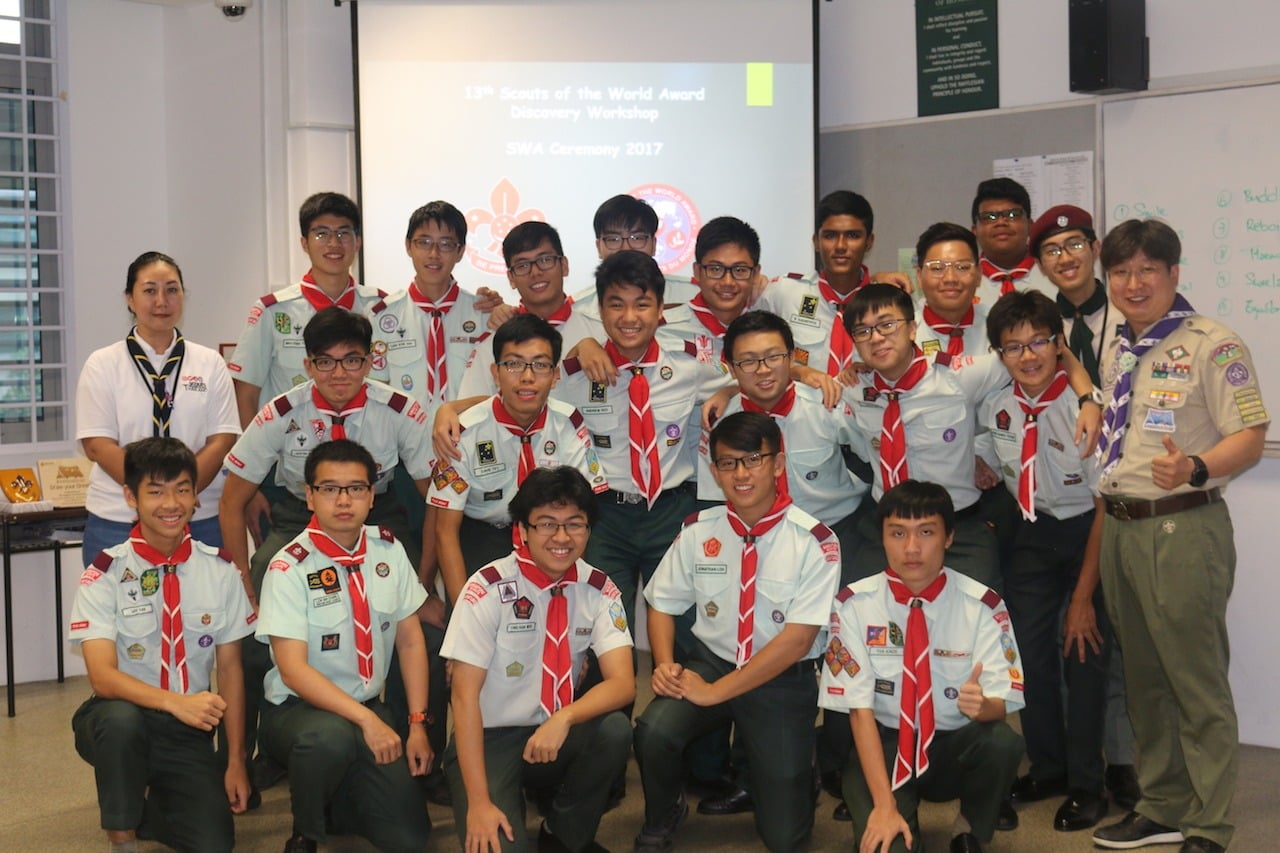 The participants of the 13th Scout of the World Award - Discovery!